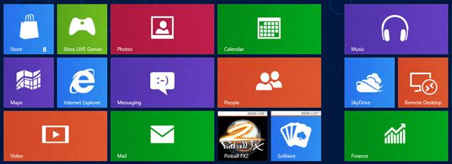 Windows 8 layout