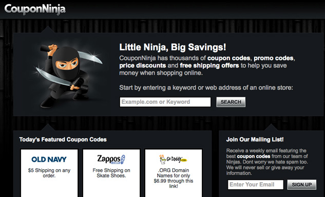Coupon Ninja character illustration