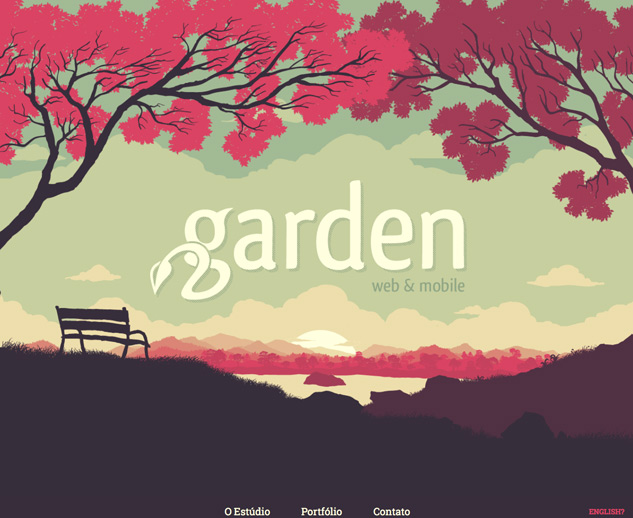 Screenshot of garden studio website