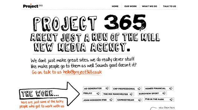 Screenshot of Project 365 website