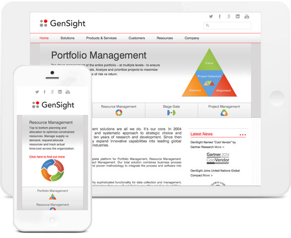GenSight reactive graphics portfolio