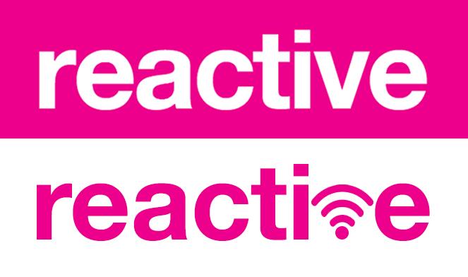 reactive logo reimagined