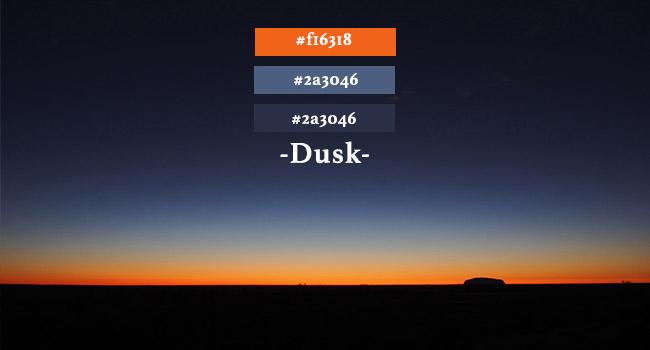 dusk colour palette