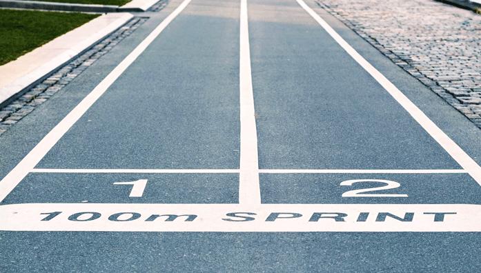 sprint line starting point