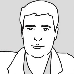 Cartoon web developer