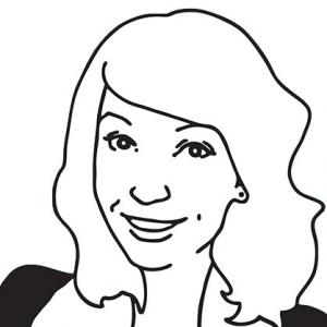 cartoon image of London web designer