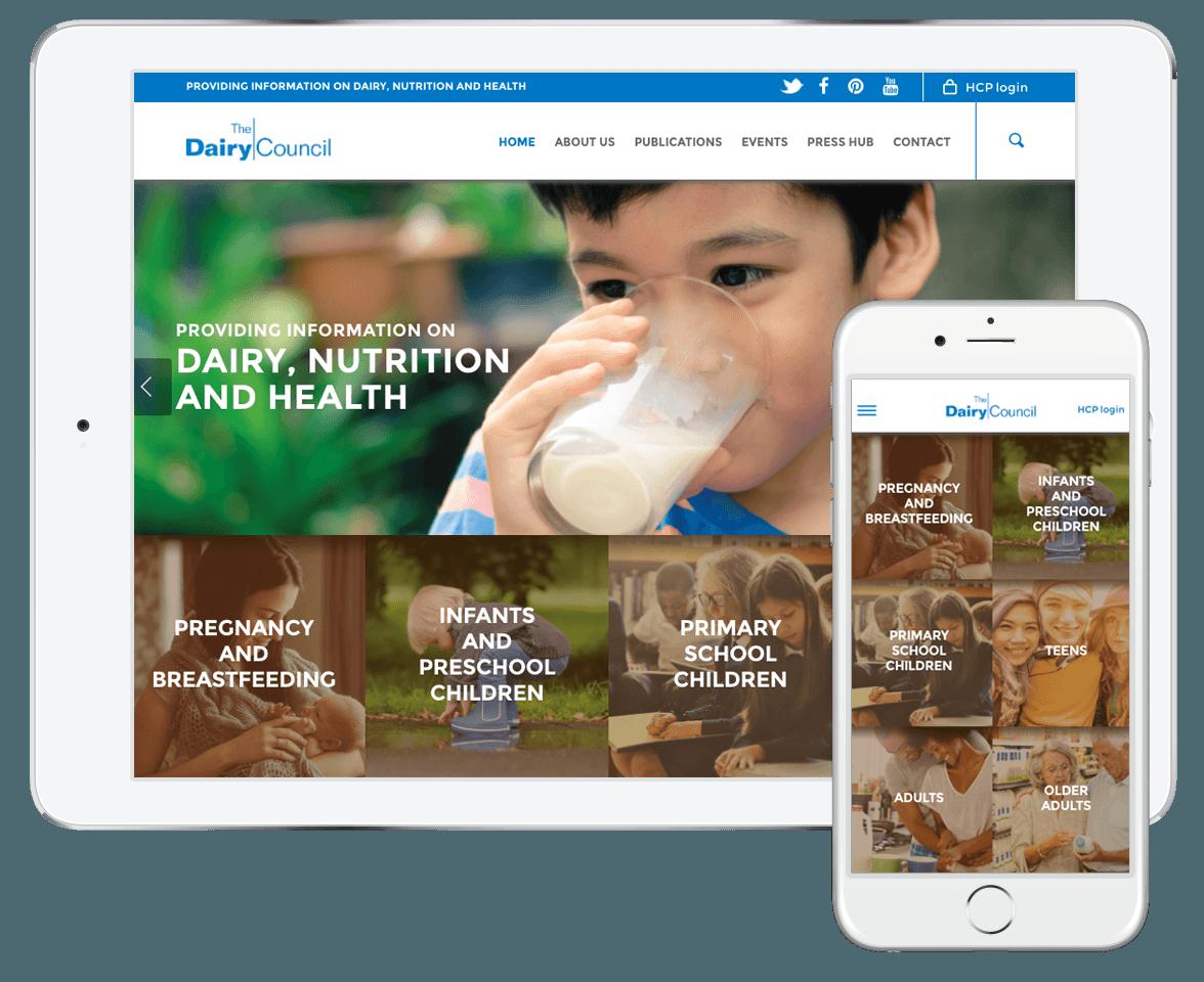 Dairy Council Website Development