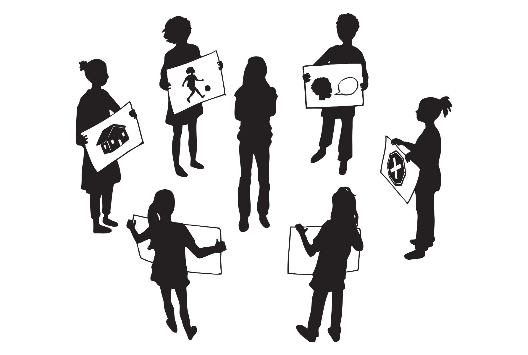 Street Children Illustration