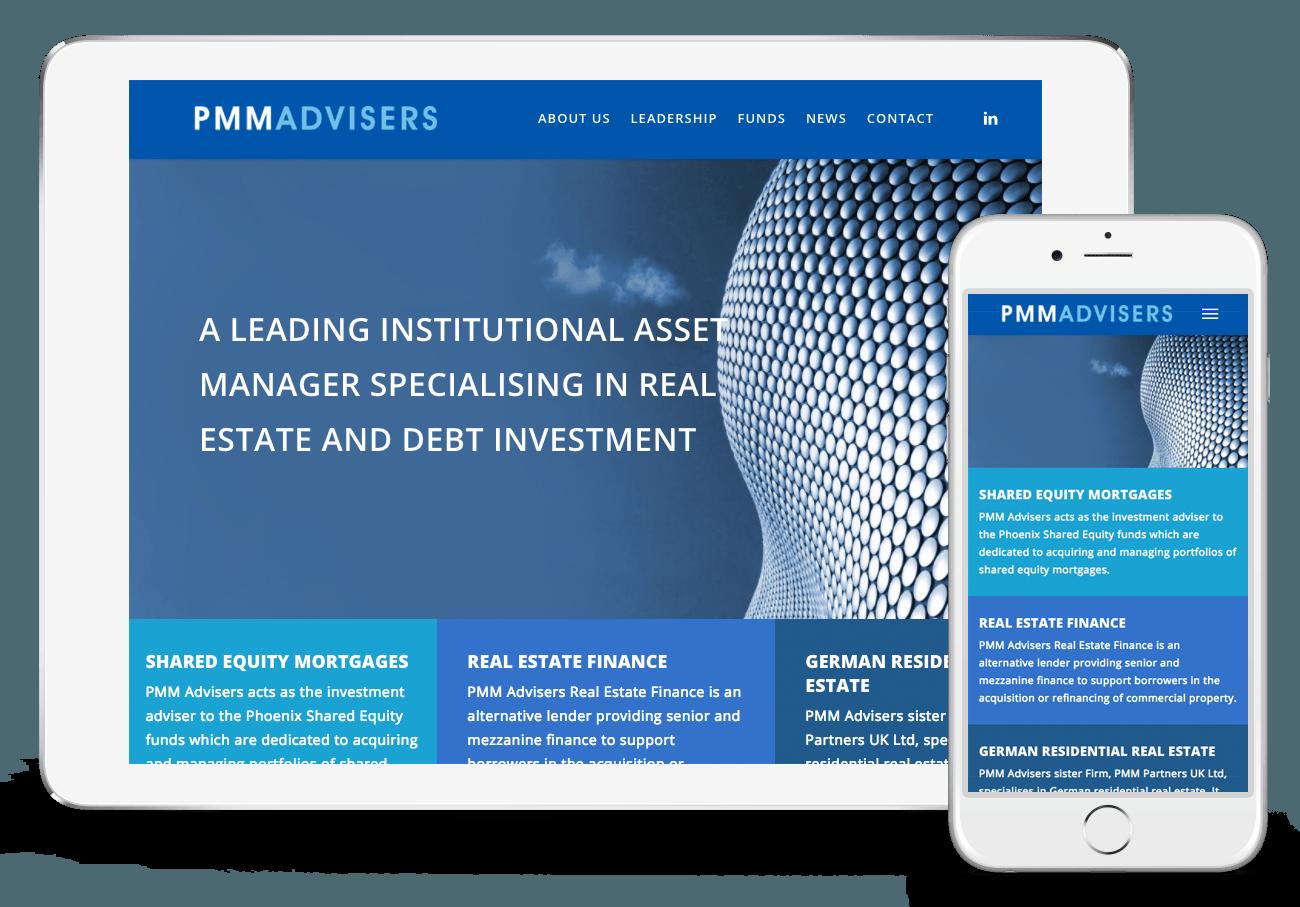 PMM Advisers Web Design