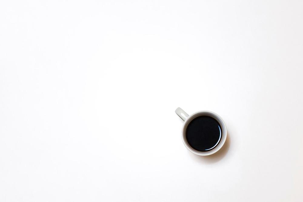 Minimalism - Coffee on desk