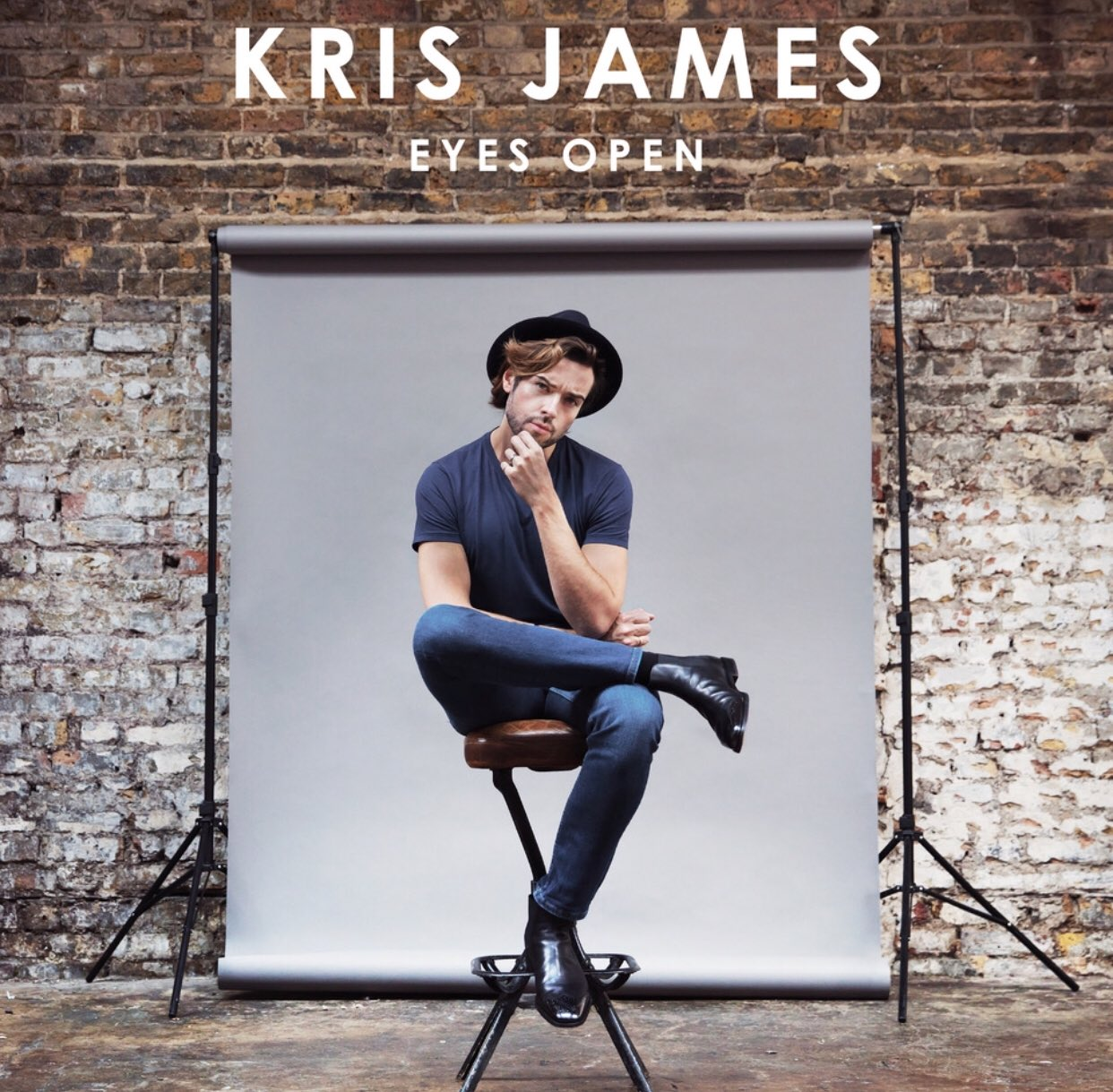 Kris James Eyes Open album cover music week designs