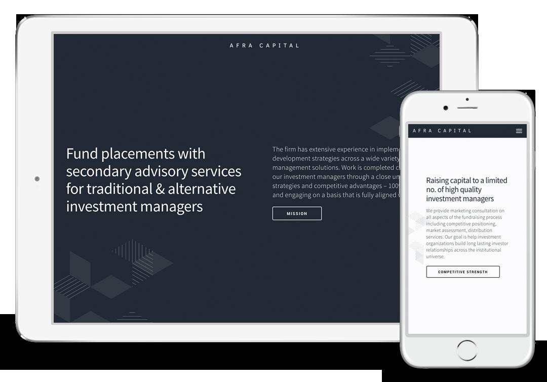 Afra Capital Website Design For Financial Services