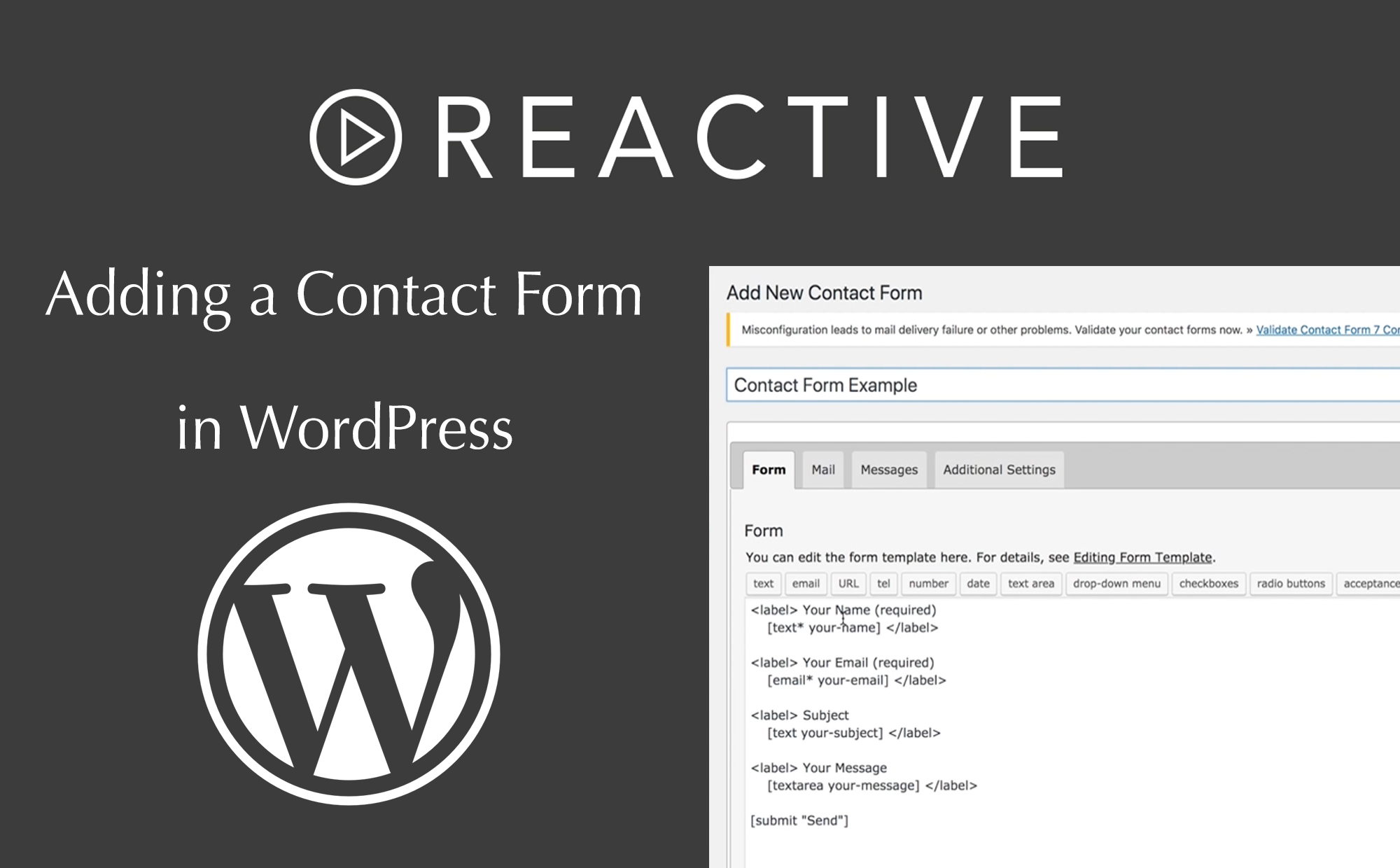 Adding a Contact Form in WordPress