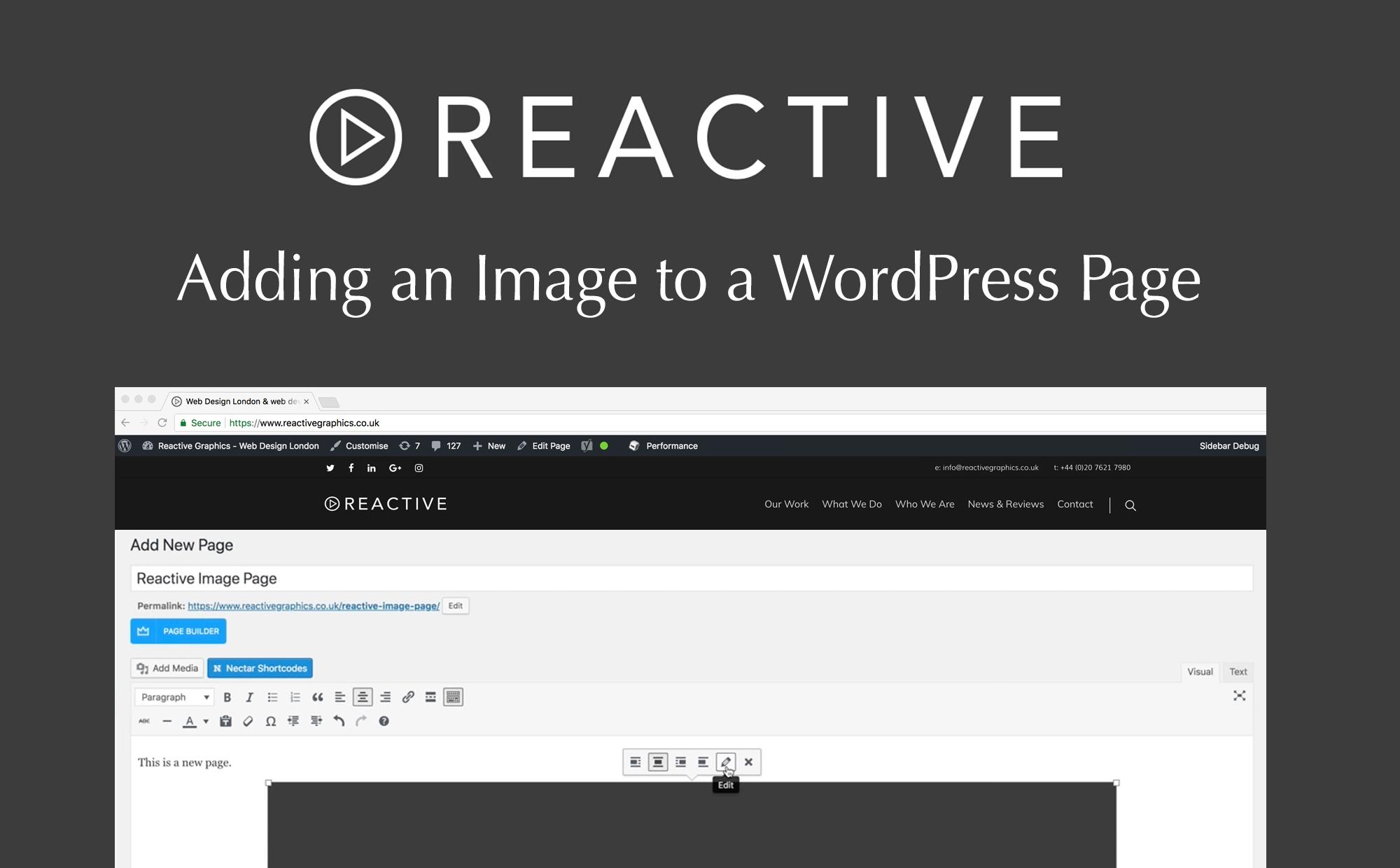 Adding an image to a wordpress page