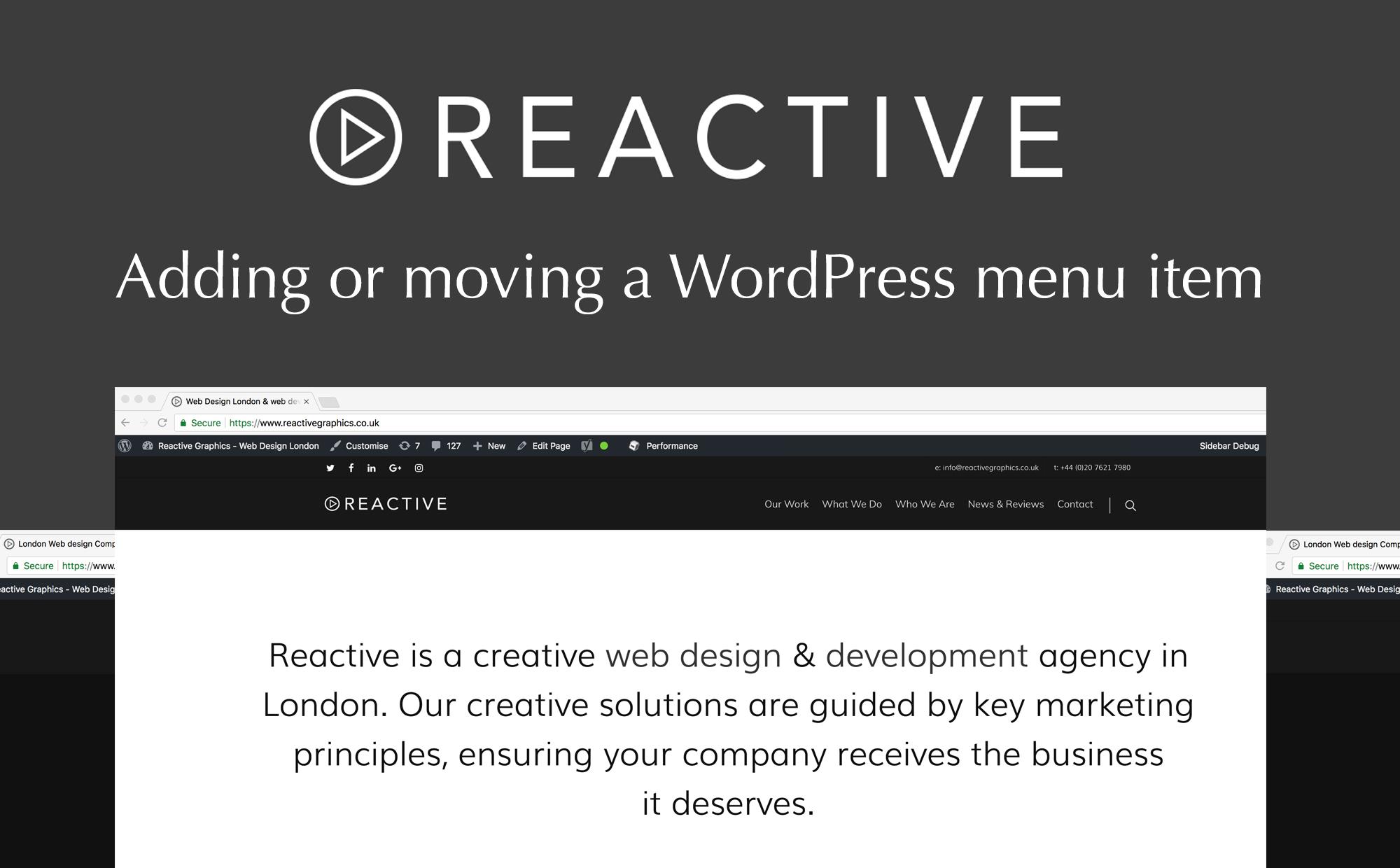 Adding a WordPress menu item