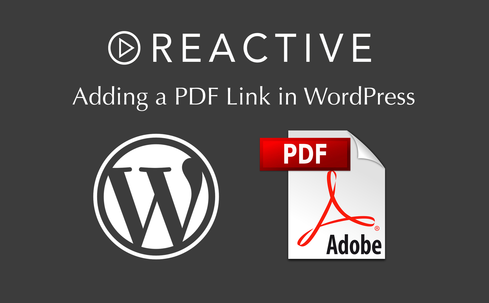 Adding a PDF link in WordPress