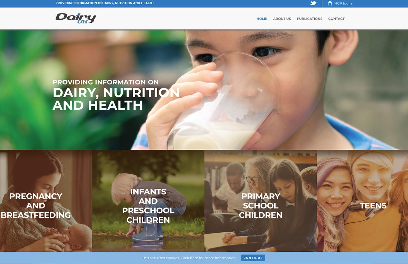 trade web design services dairy uk reactive graphics