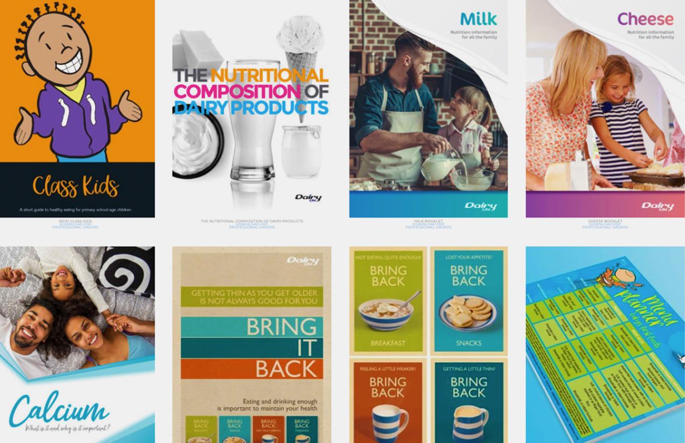 trade web design reactive graphics dairy uk