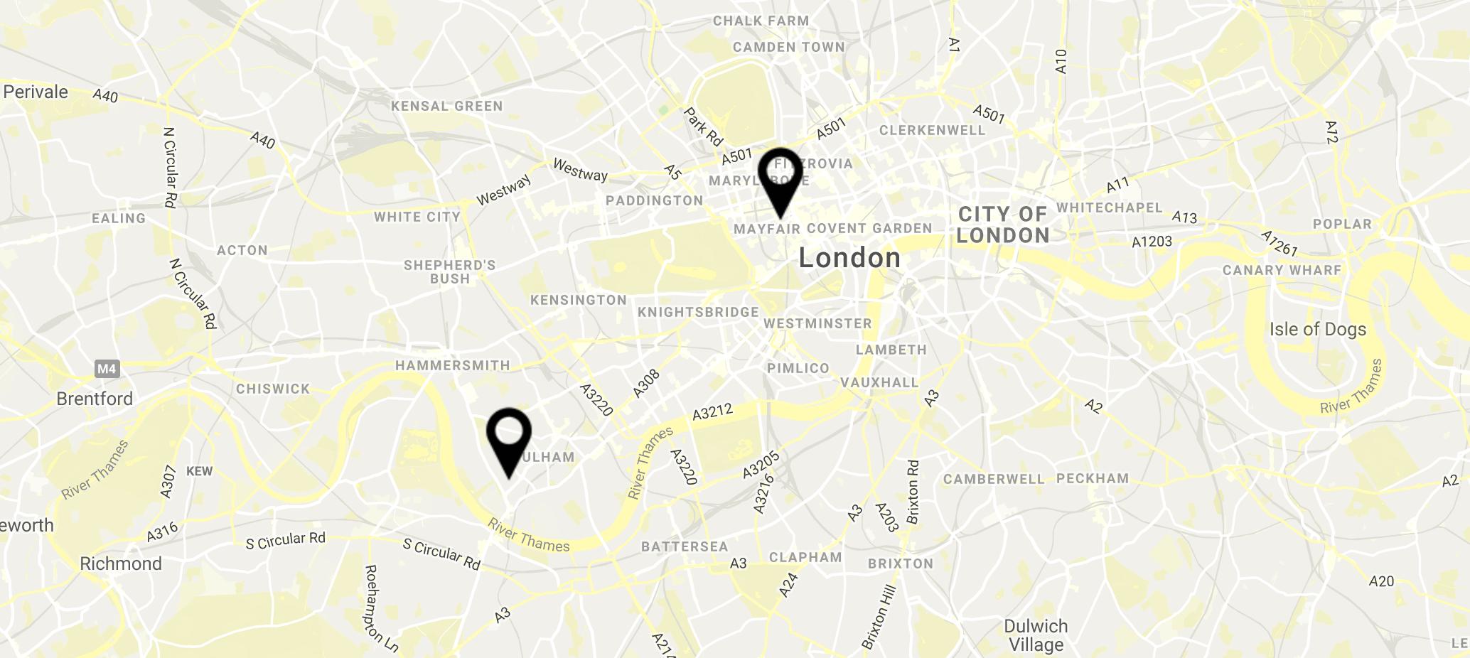 Google map locations