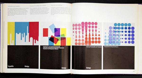 different colour systems and designs displayed in magazine