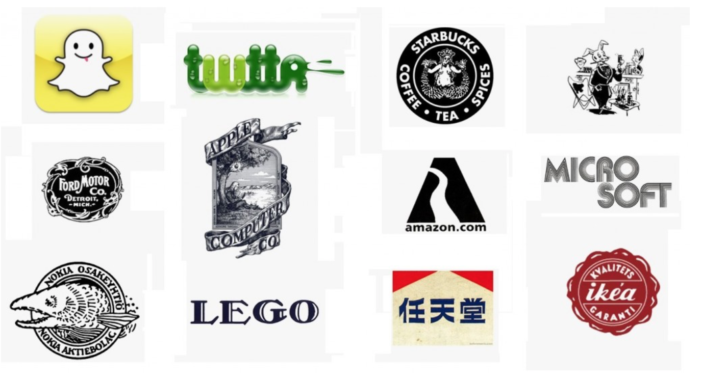 old and new logos of brands