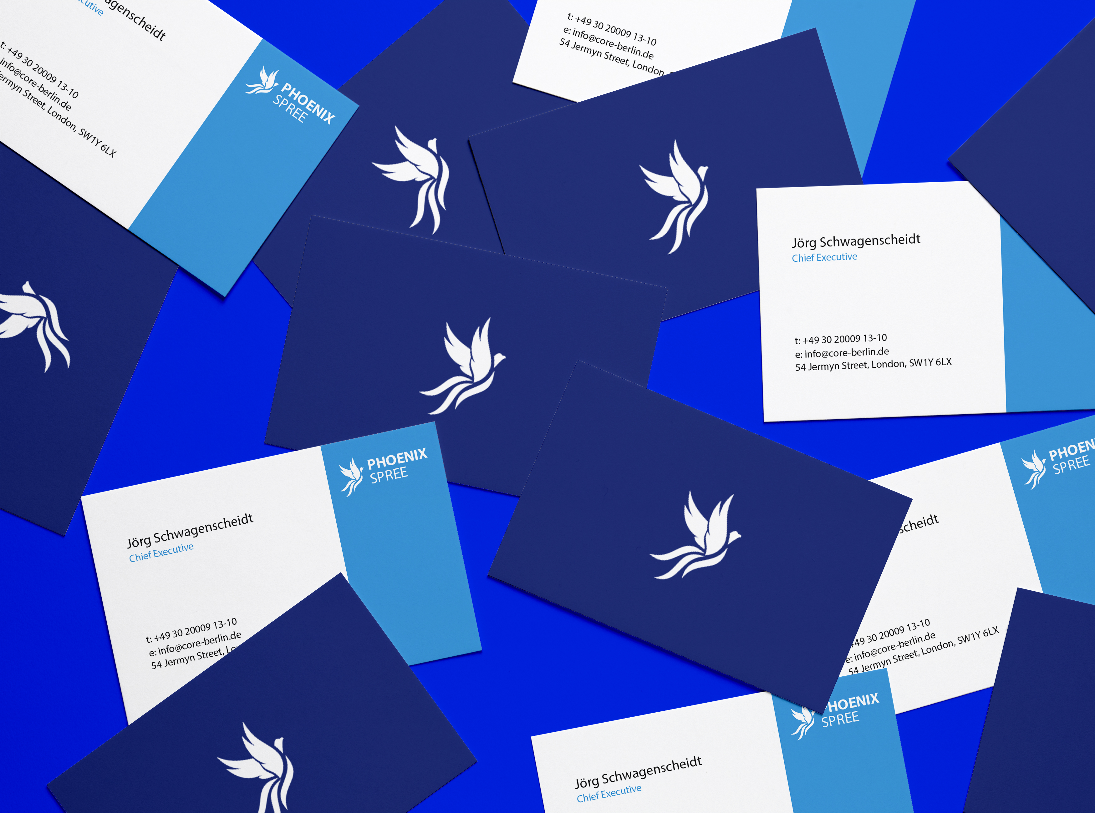 phoenix spree cards brand identity
