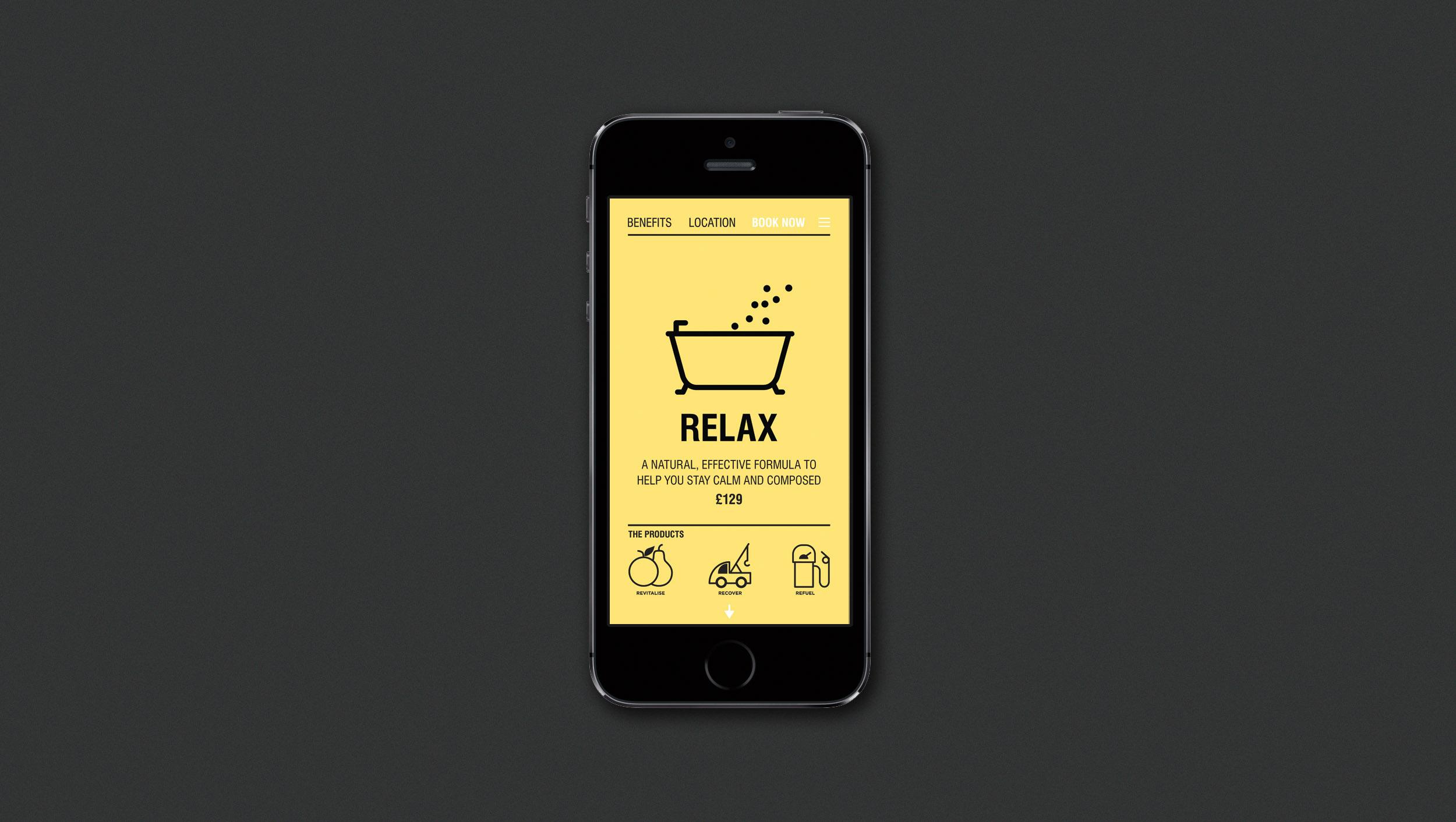drip iphone yellow brand identity