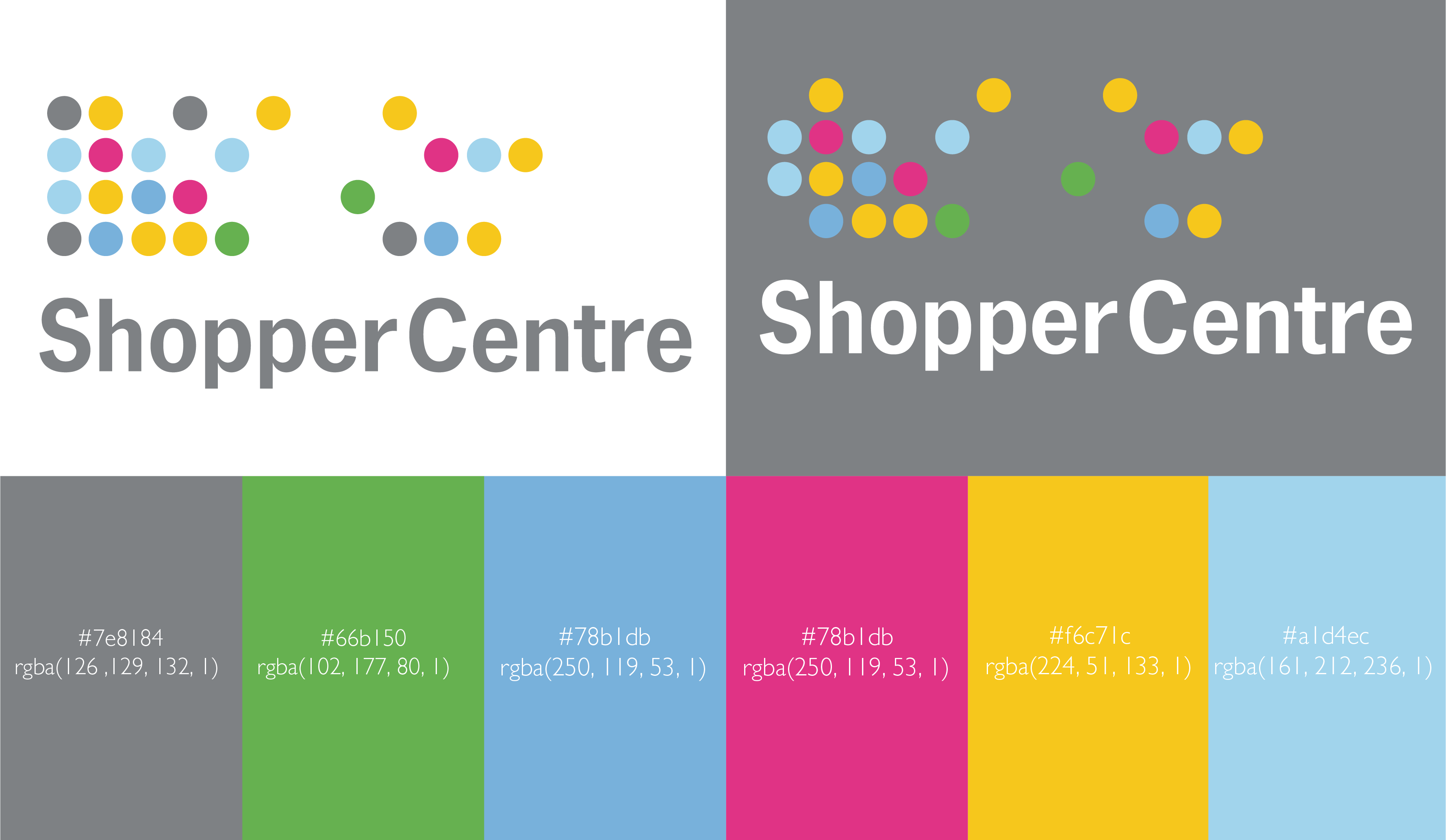 shopper centre brand identity