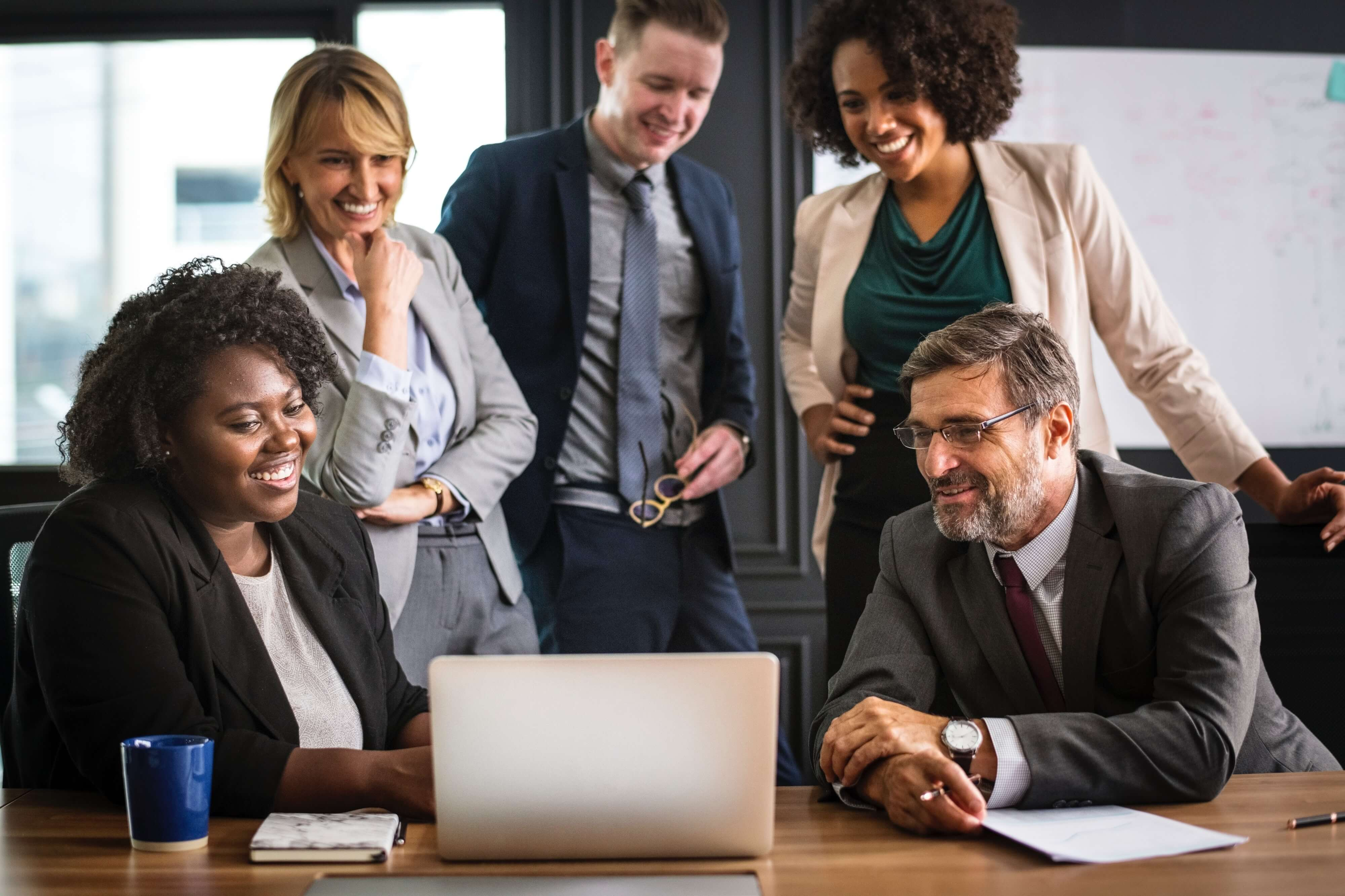stock image of office staff website images