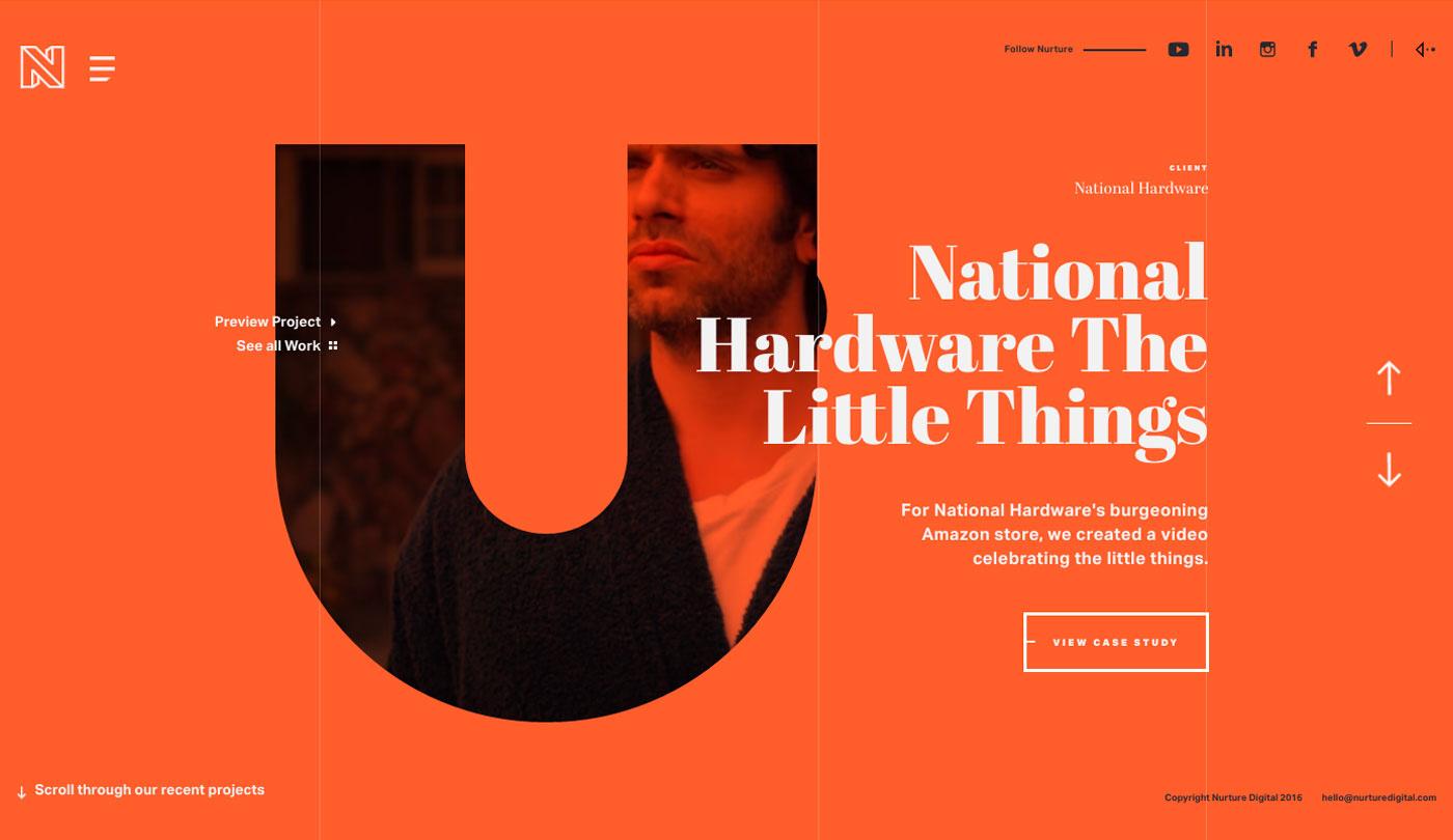 artistic web design serif font