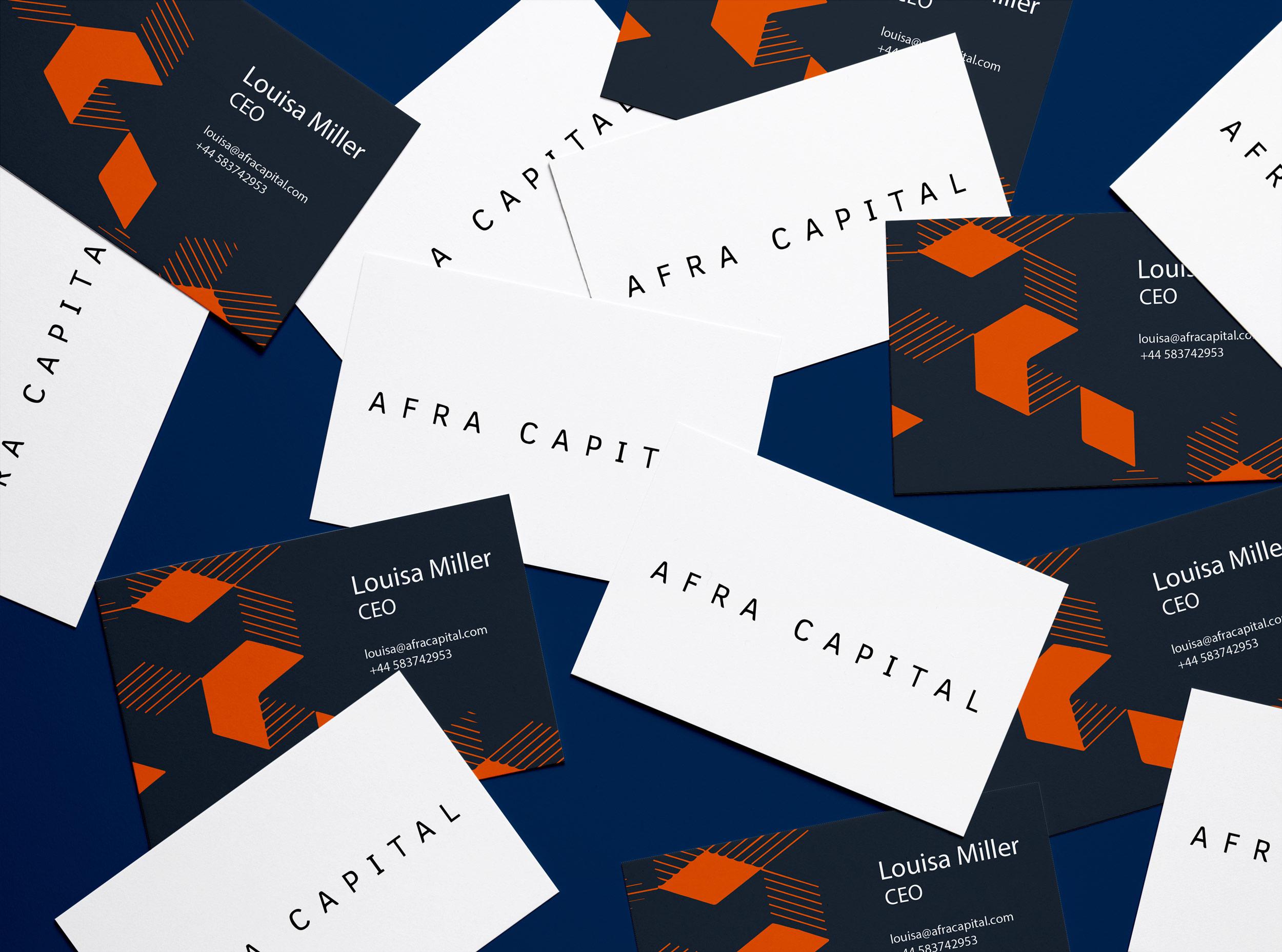 Afra Capital Business Cards