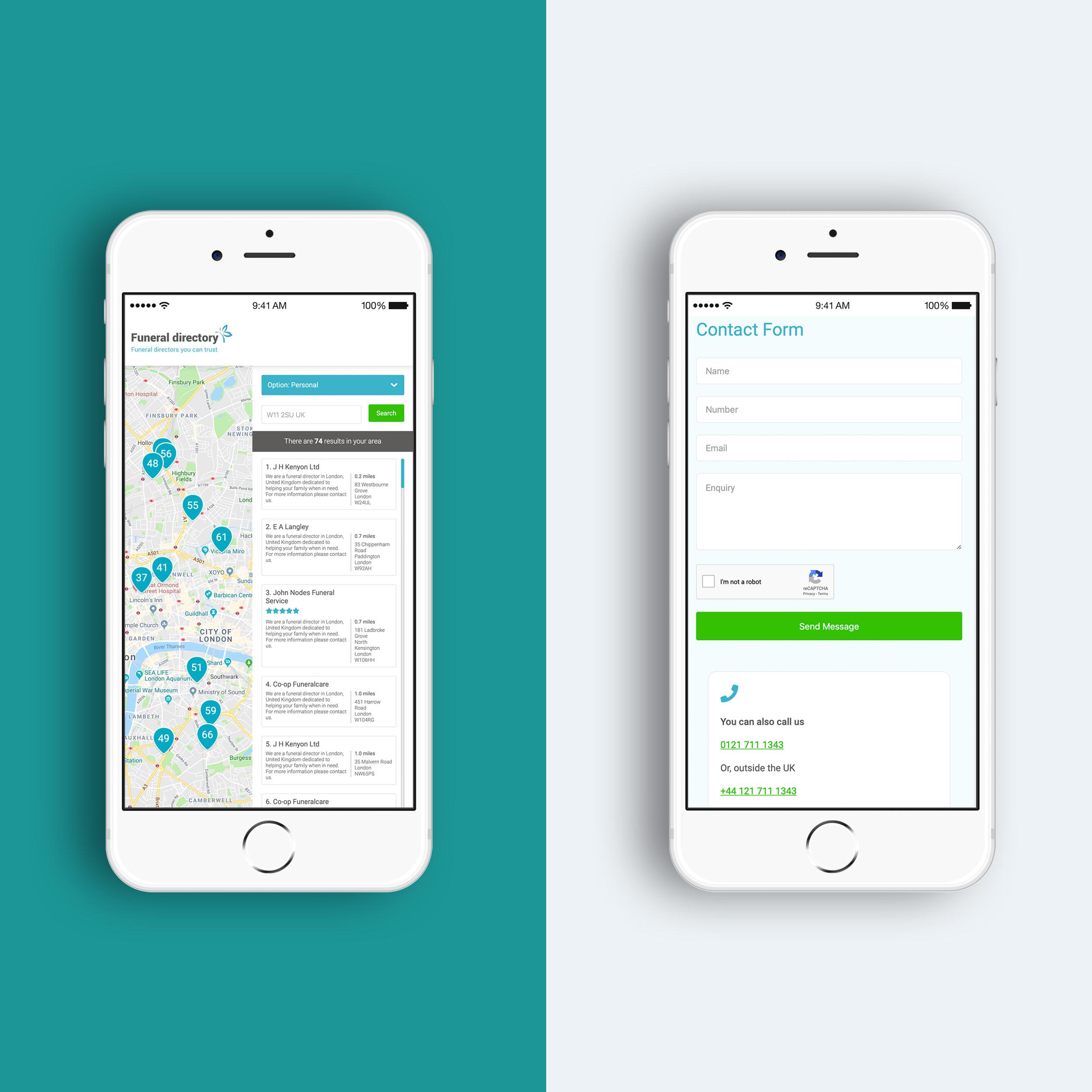 iphone mockup web design