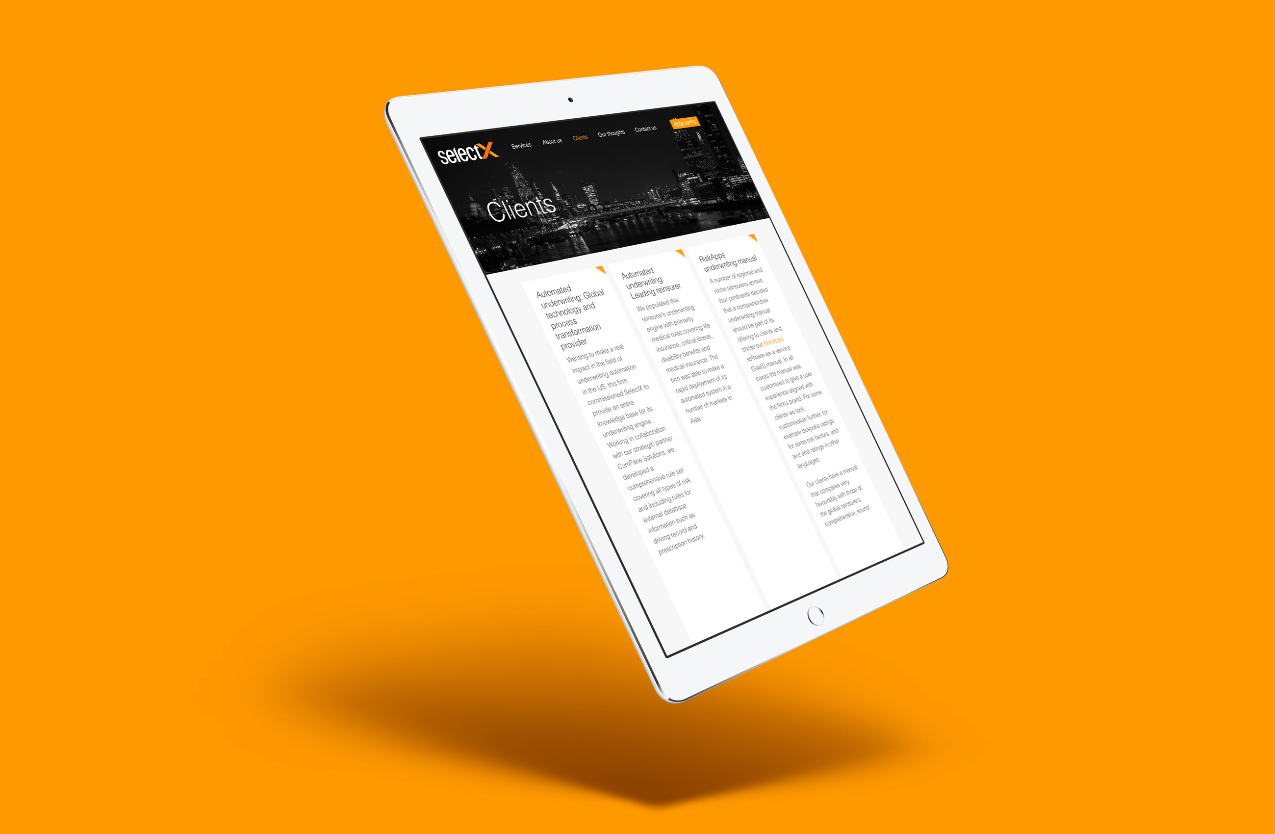 SelectX Website Design