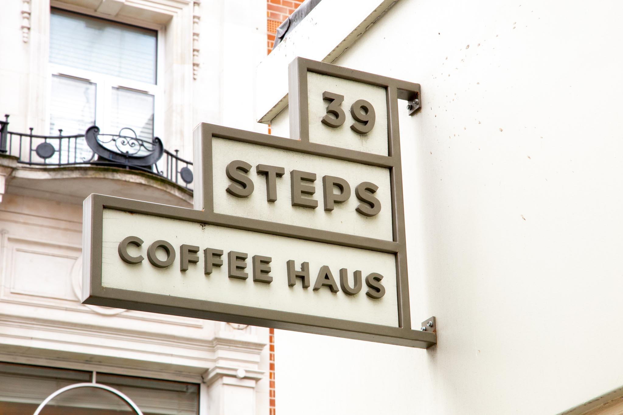 39 steps coffee soho brand identity