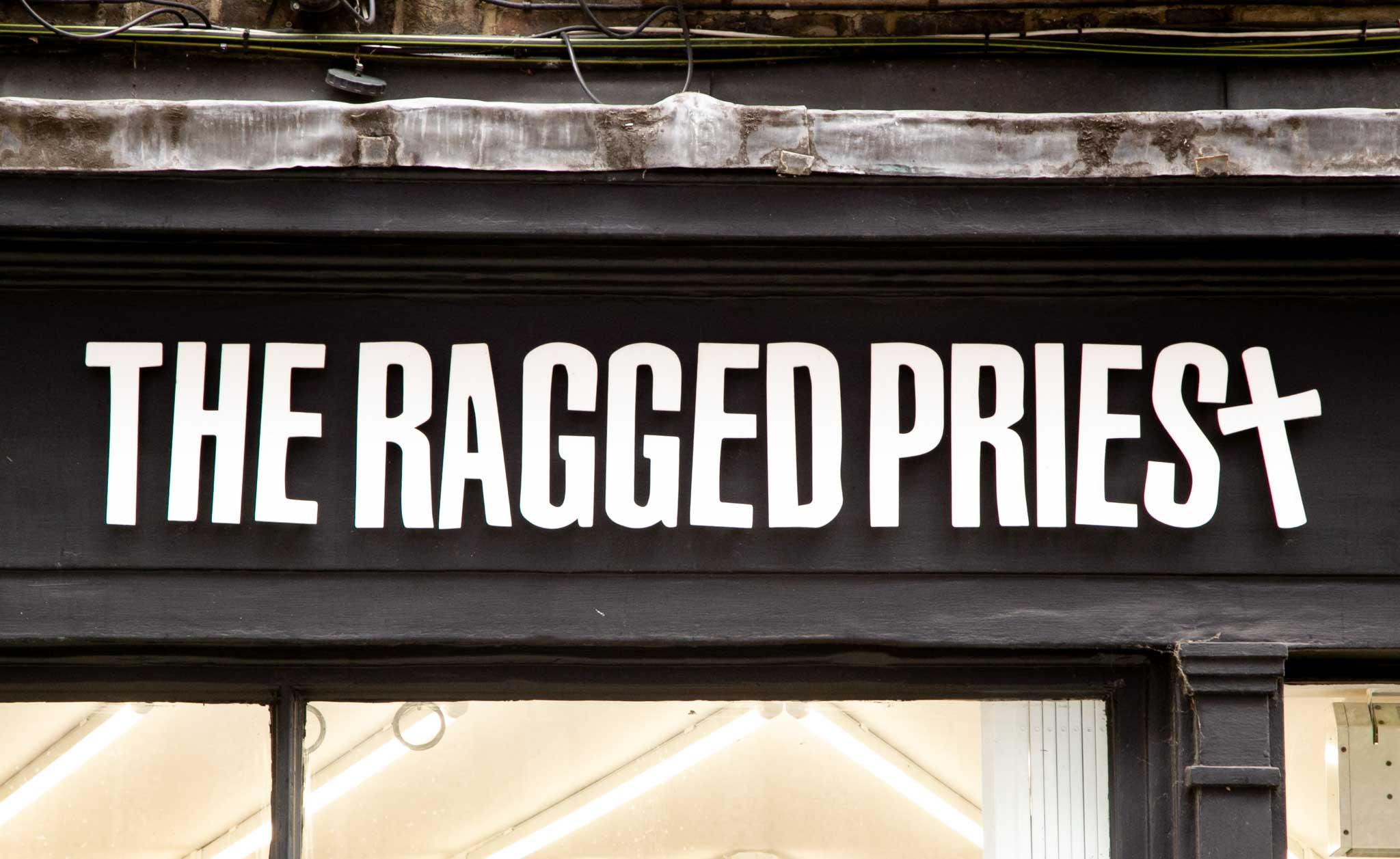 the ragged priest soho brand identity
