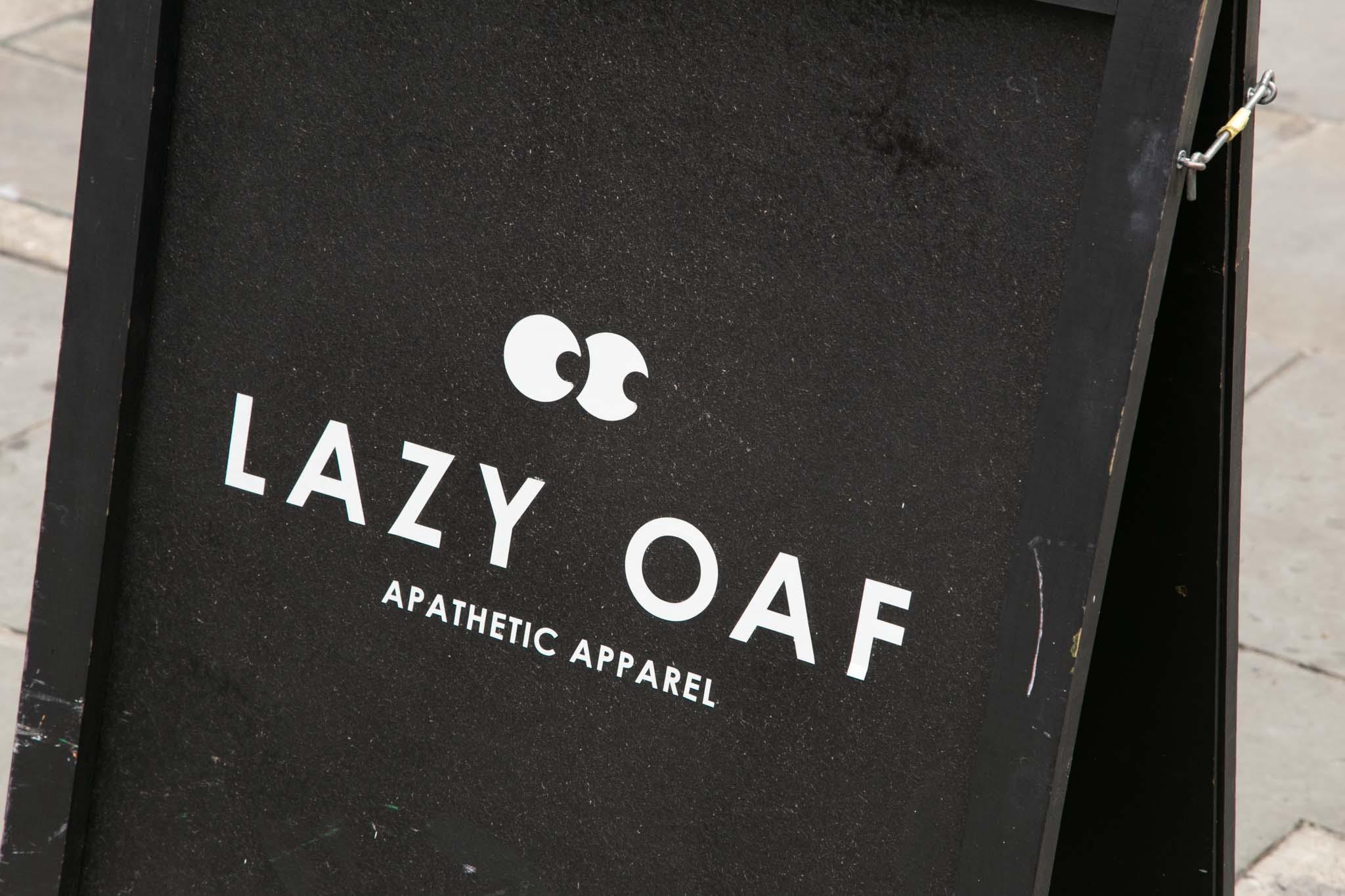 lazy oaf soho brand identity