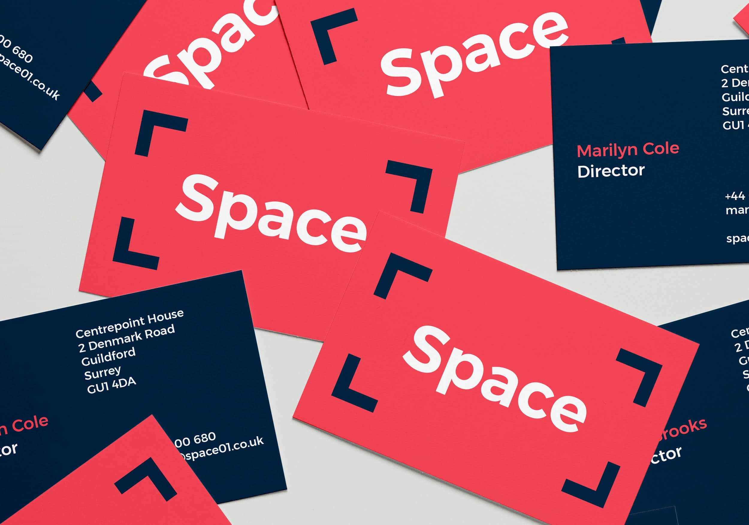 Space branding business cards