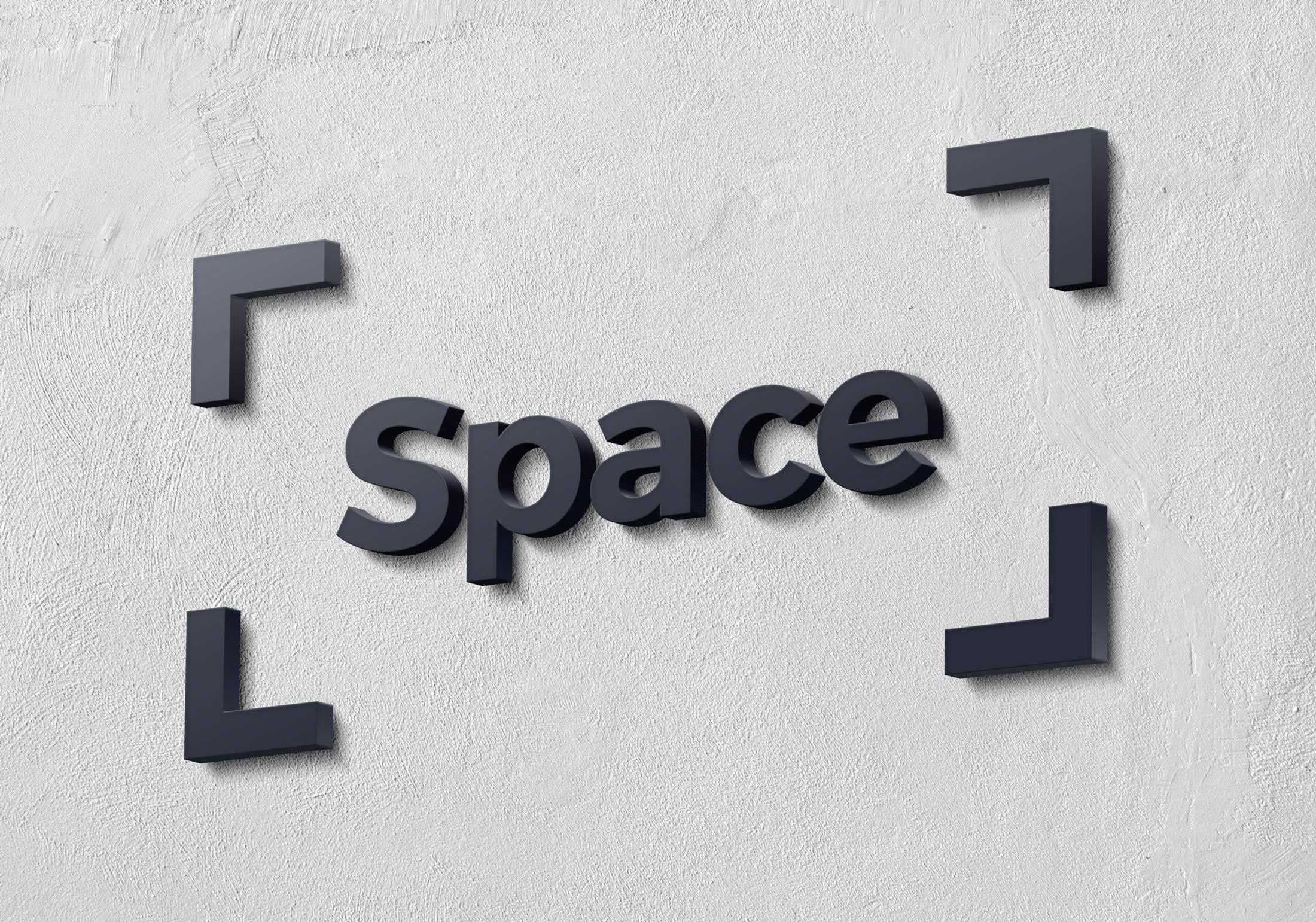 space logo branding frame
