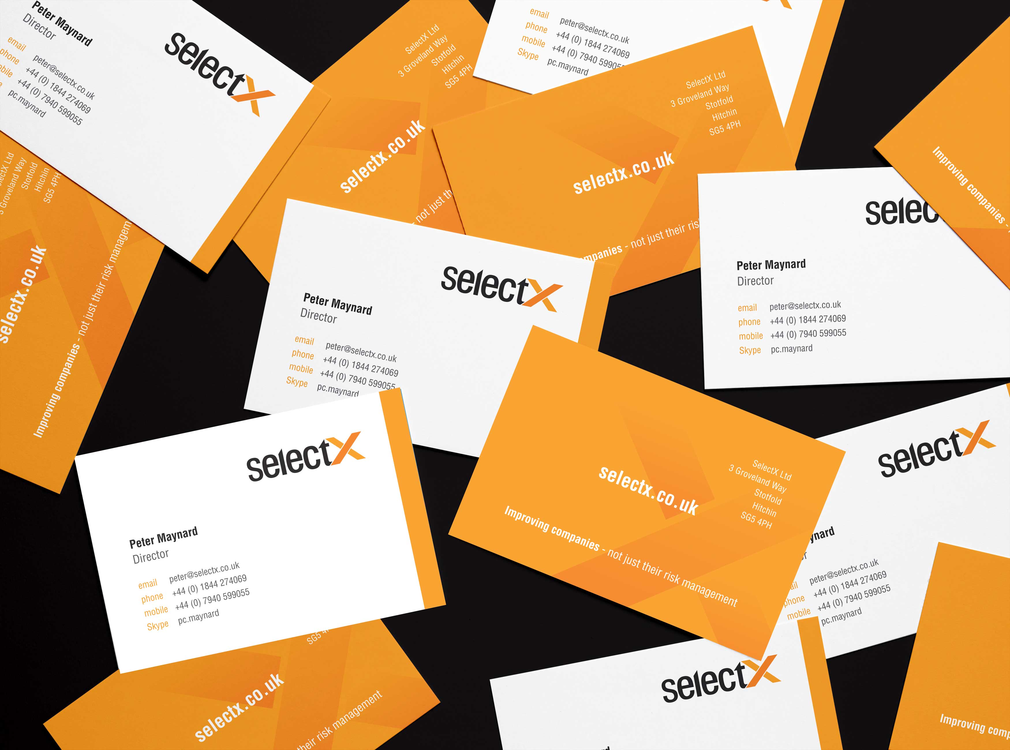 SelectX business cards