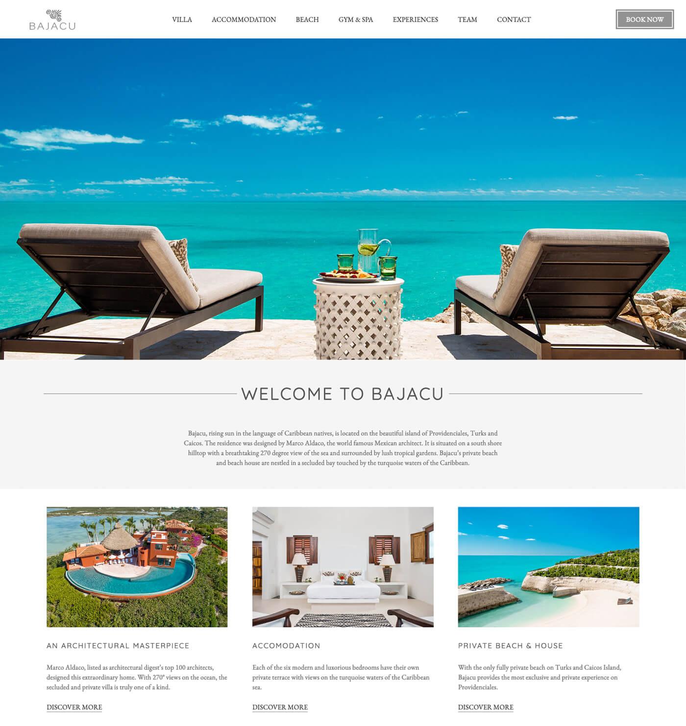 Bajacu London Web Design