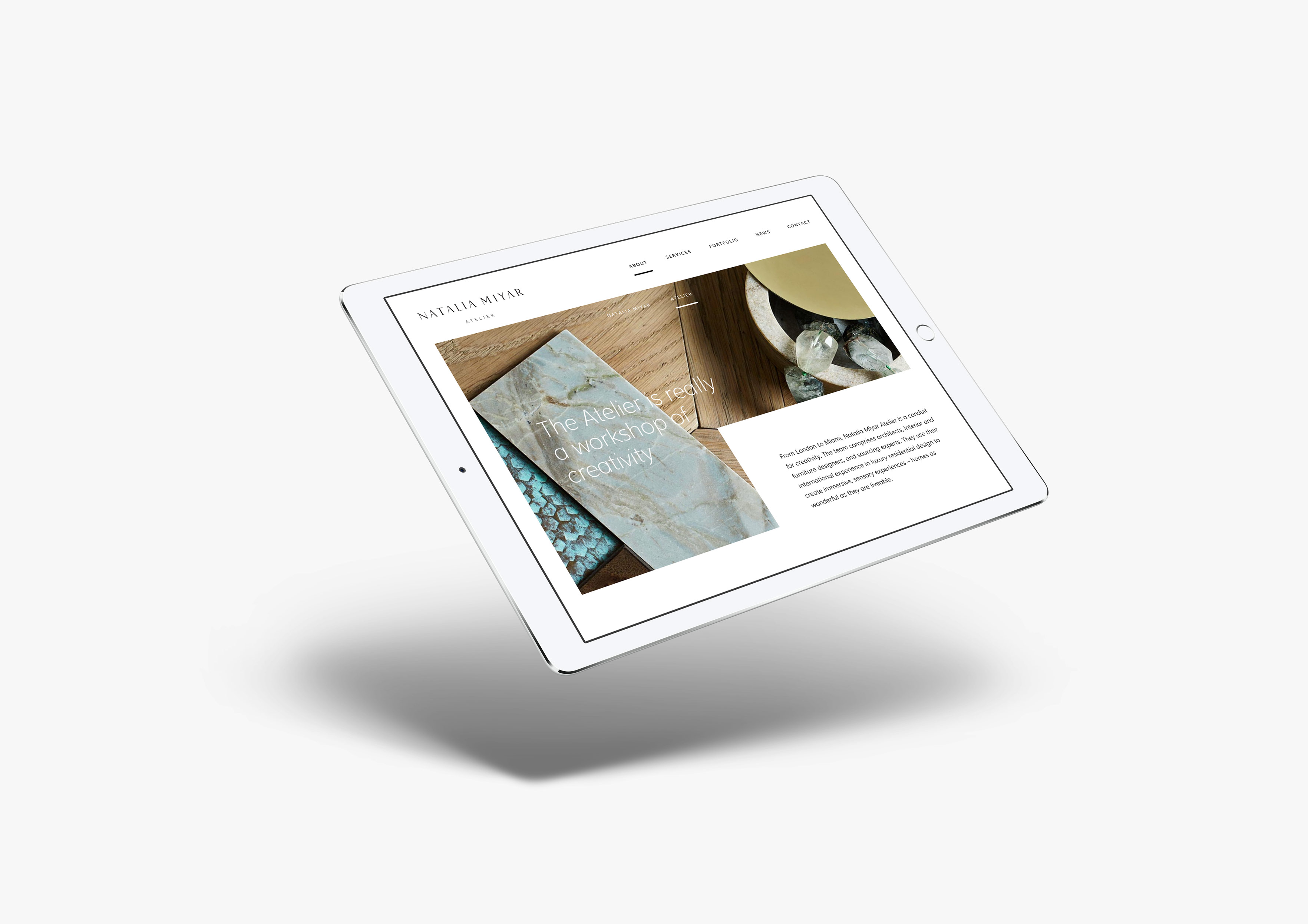 website for interior designer ipad mockup website mobile responsive