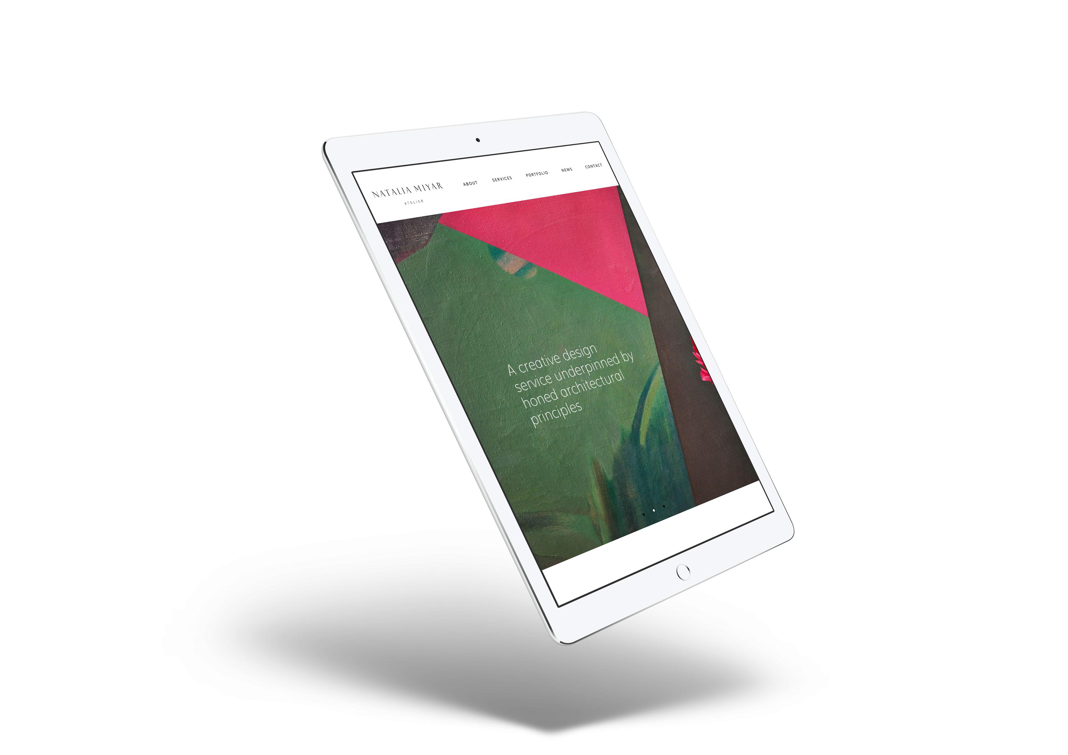 website for interior designer ipad mockup mobile responsive
