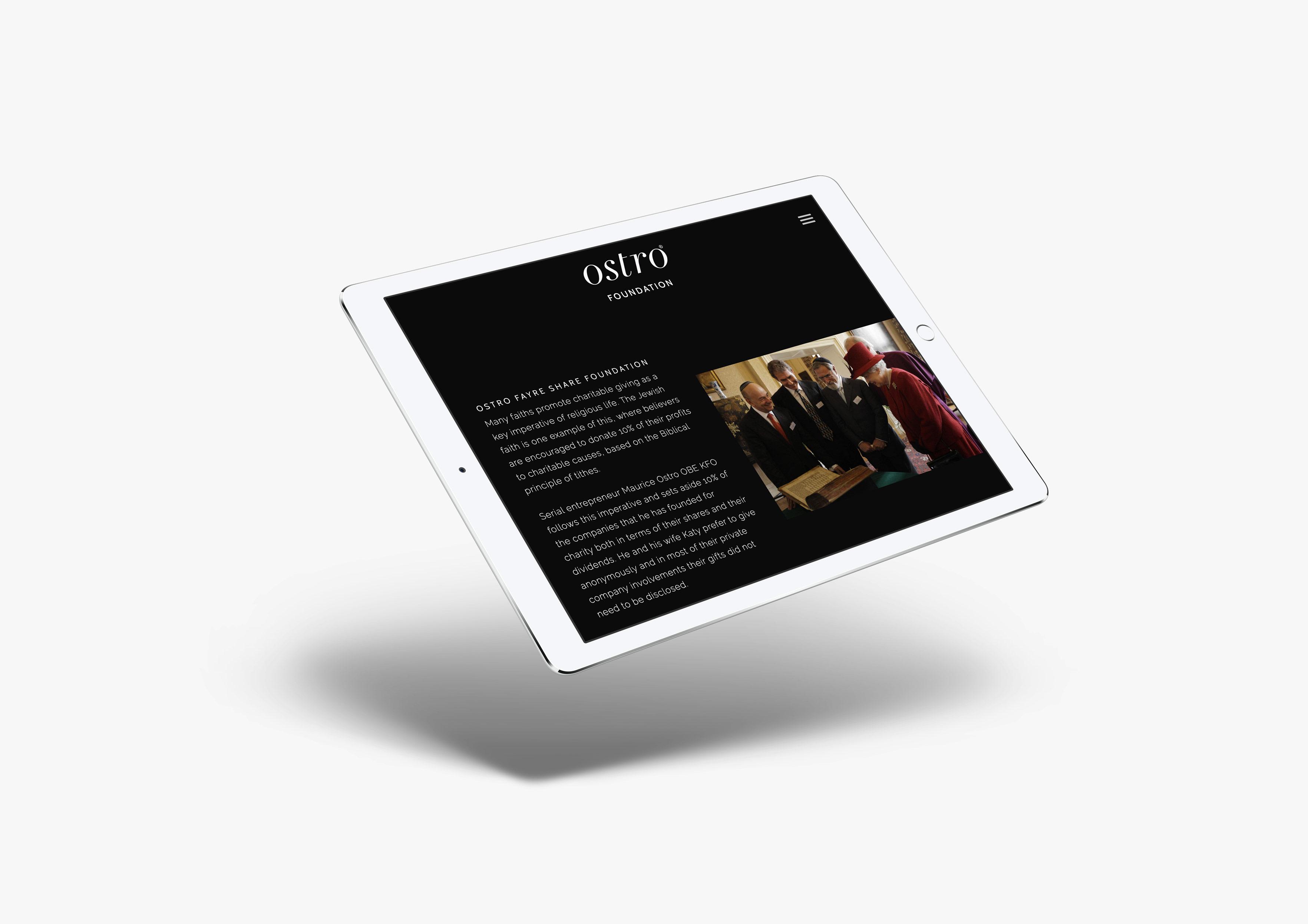 ostro ipad mockup website mobile responsive
