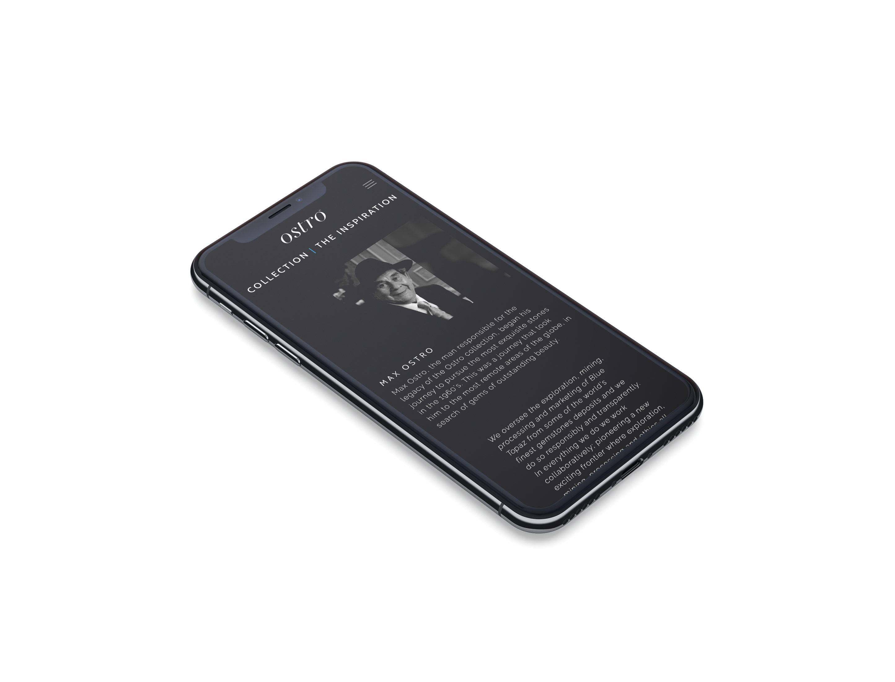 ostro iphone 11 mockup website mobile responsive