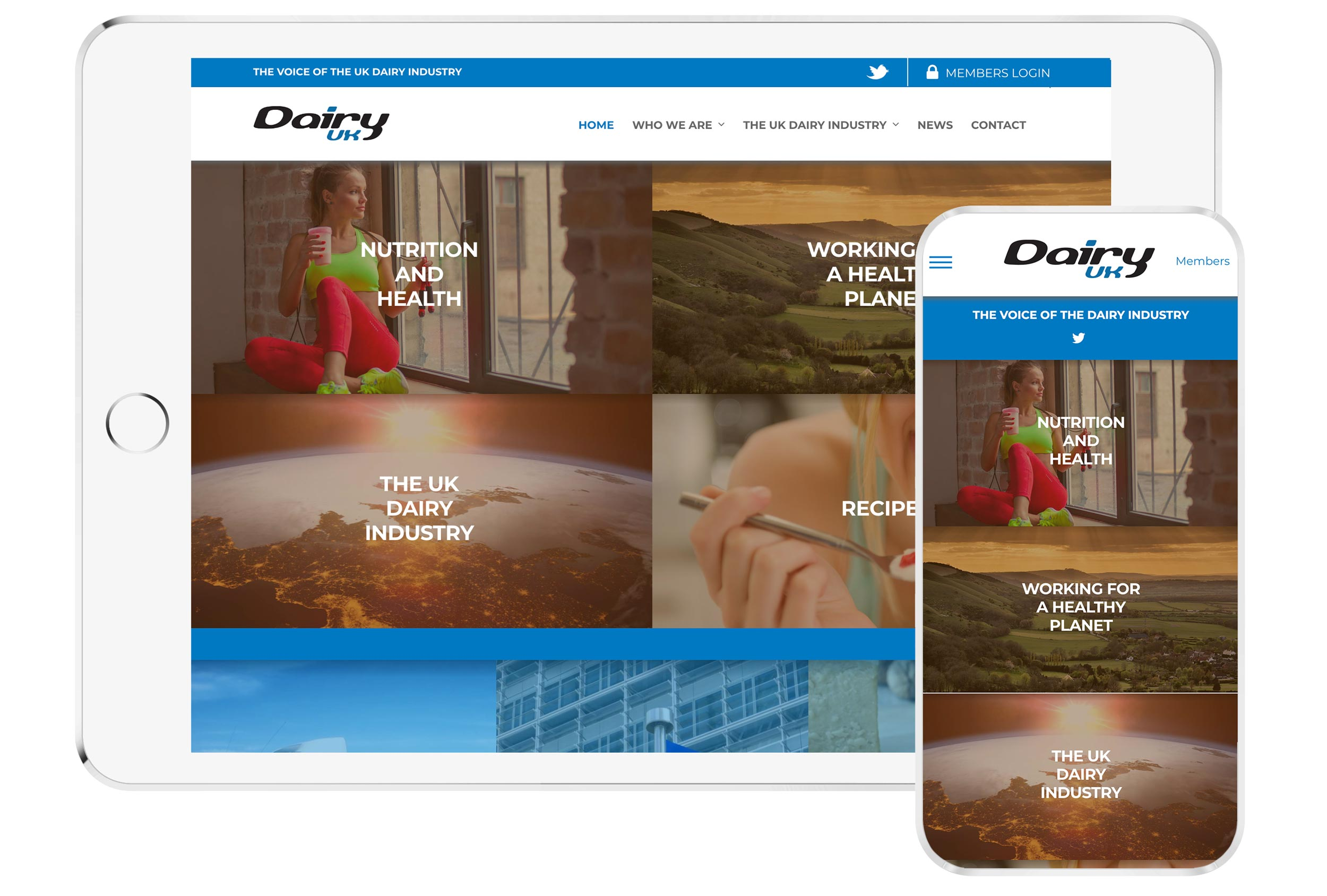 dairyuk website mockup
