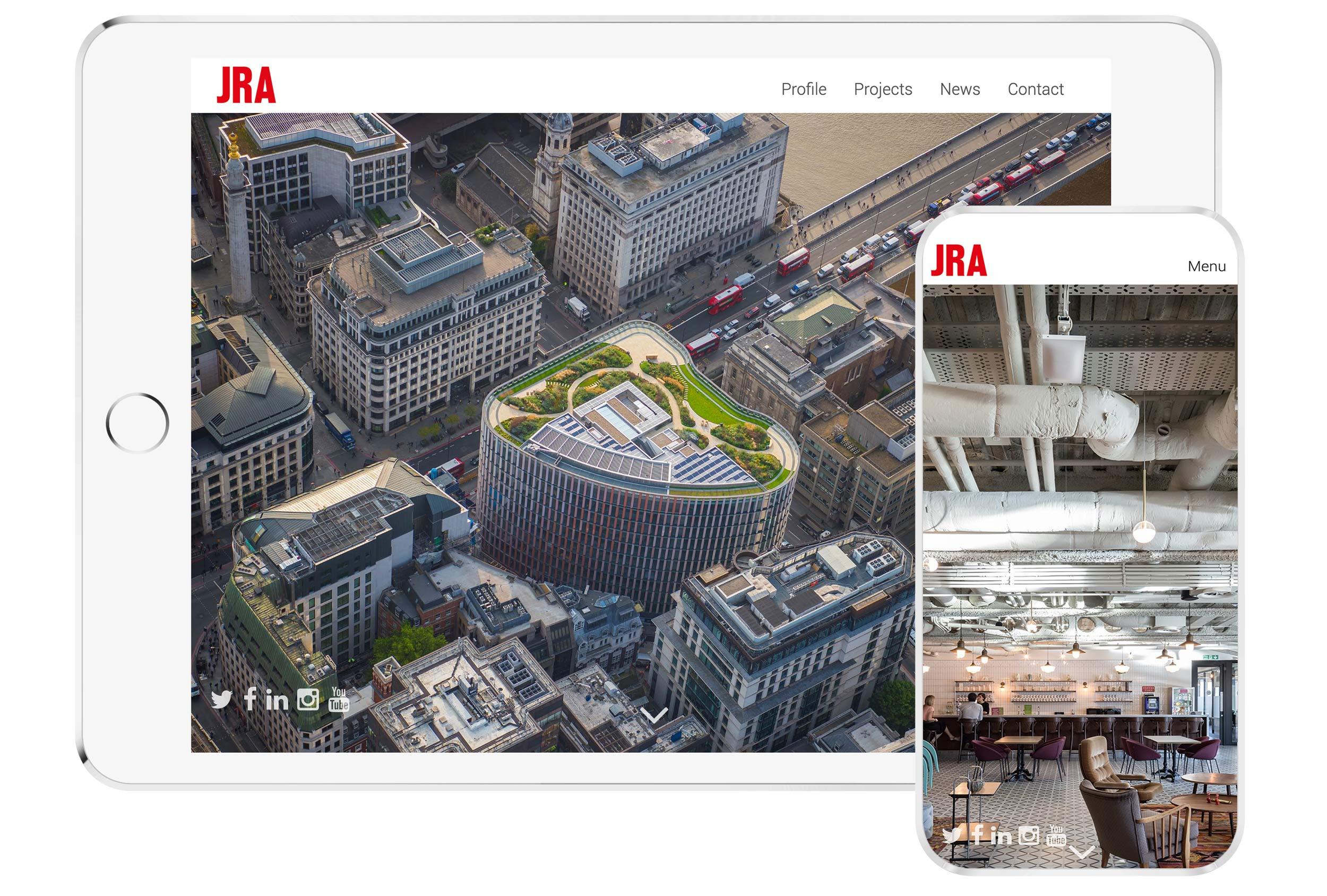 jra property web design website mockup