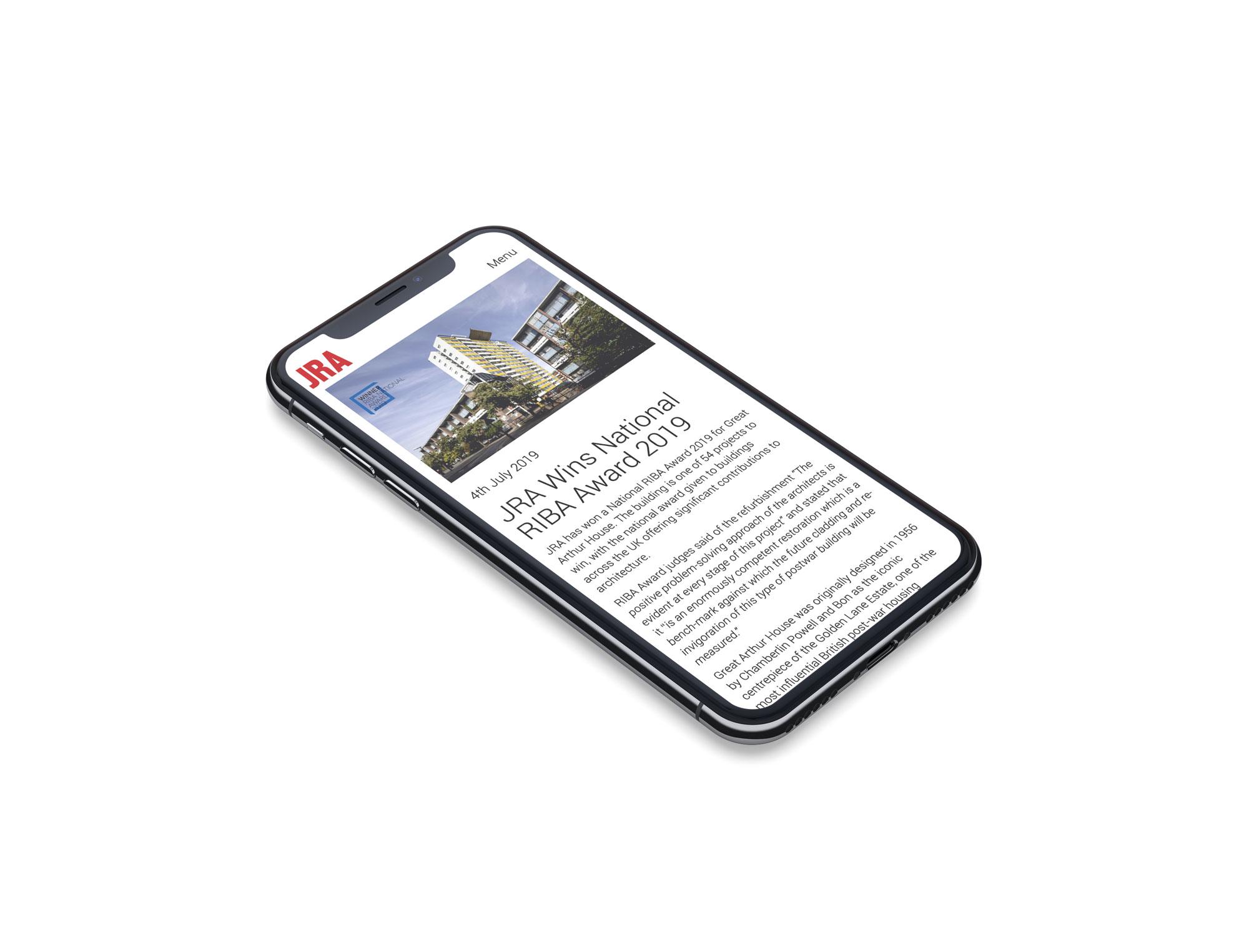jra iphone mockup property website