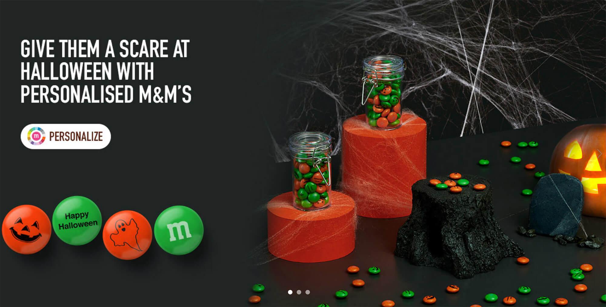 m&m-world halloween web design