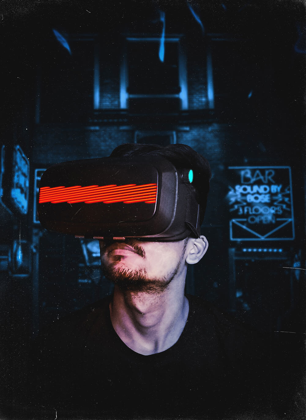 augmented reality man
