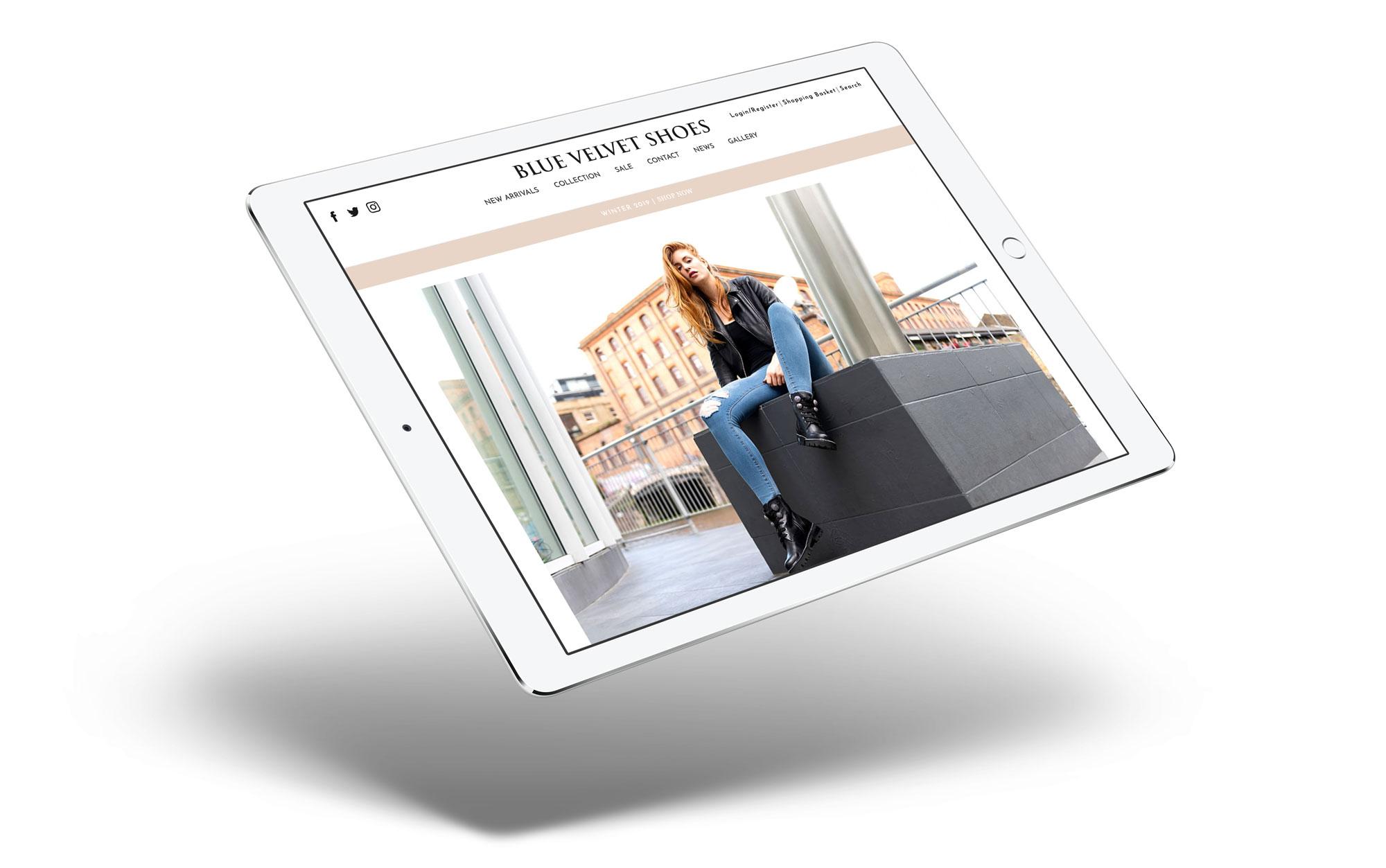 ecommerce web design for blue velvet